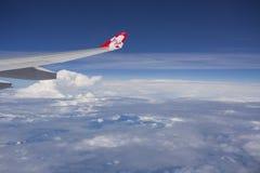 TOKYO IL GIAPPONE 29 MAGGIO 2016: Vista dal volo dell'aereo di AirAsia in cielo a Immagini Stock Libere da Diritti