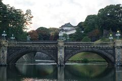 The Tokyo Imperial Palace Castle. The Tokyo Imperial Palace is the primary residence of the Emperor of Japan. It is a large park-like area located in the Chiyoda royalty free stock photography