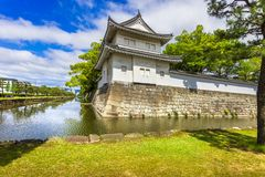 Tokyo Imperial Palace and water canal. Japan. Tokyo Imperial Palace exterior and surrounding water canal. Japan, Asia Royalty Free Stock Photos