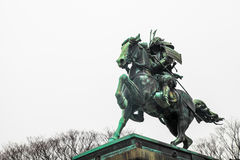 Tokyo Imperial Palace | Landmark samurai statue in Japan on March 31, 2017 Royalty Free Stock Photography