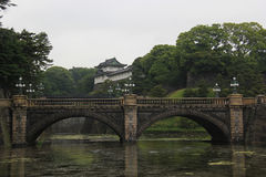 Tokyo Imperial Palace. The Tokyo Imperial Palace, located on the former site of Edo Castle, is the main residence of the Emperor of Japan. It is surrounded by royalty free stock photos