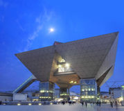 Tokyo International Exhibition Center in Japan. The Tokyo International Exhibition Center more commonly called Tokyo Big Sight is a palace of congresses located royalty free stock image