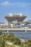 The Tokyo International Exhibition Center more commonly called Tokyo Big Sight is a palace of congresses located in Tokyo Japan royalty free stock photo