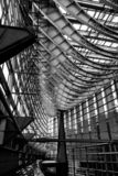 Amazing Steel and Glass Hull-Like Roof @ Tokyo International Forum royalty free stock photos
