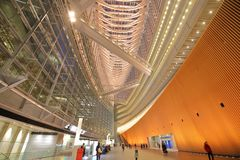 Tokyo international forum modern architecture building Japan royalty free stock image