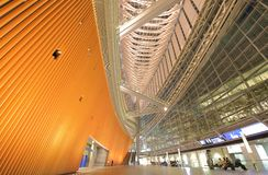 Tokyo international forum modern architecture building Japan royalty free stock photos