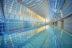 Tokyo International Forum with reflection Stock Images