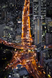 Tokyo Intersection. Busy 5-way intersection in Tokyo, Japan Stock Photo