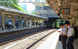 Tokyo järnvägsstation, Japan Royaltyfri Foto