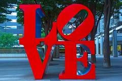 TOKYO, JAPAN – JUNE 29: Love Sculpture on June 29, 2013 in Tokyo, Japan. Royalty Free Stock Images