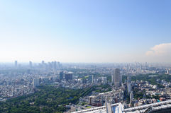 Tokyo, Japan. Tokyo. View from the observatory of Roppongi Hills Mori Tower. Taken in summer 2011 Stock Images