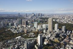 Tokyo Japan Aerial View Royalty Free Stock Photography