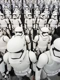 TOKYO, JAPAN, Akihabara, 10 - JULY, 2017: Exposure models star wars figures stormtroopers. A small copy of the army soldier starship troopers Royalty Free Stock Image