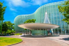 The National Art Center in Roppongi, Tokyo, Japan. Tokyo, Japan - April 26 2018: The national Art Center in Roppongi - an art museum displays contempory art royalty free stock photo