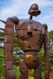 Statue of the robot at Ghibli museum royalty free stock image