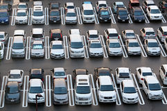 TOKYO, JAPAN, AUGUST - 20: Crowded parking in Tokyo on August 20, 2012. Royalty Free Stock Image