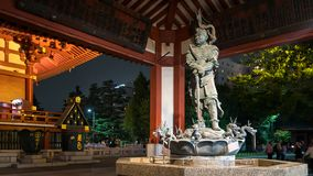 God of dragon statue at the fountain of Asakusa Kannon temple in Tokyo, Japan stock photo
