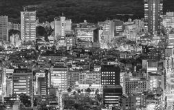 Tokyo, Japan. Beautiful aerial view of city buildings at night Royalty Free Stock Images