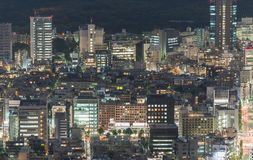 Tokyo, Japan. Beautiful aerial view of city buildings at night Royalty Free Stock Photos
