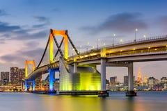 Tokyo Japan bij Regenboogbrug royalty-vrije stock afbeelding