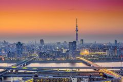 Tokyo, Japan City Skyline at Dusk Stock Photography