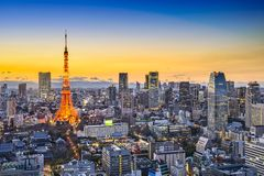 Tokyo Japan City Skyline Royalty Free Stock Photo