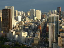 Tokyo, Japan. City view of Tokyo from high up in the Tokyo Tower Stock Photo