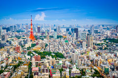 Tokyo Japan Cityscape royaltyfria foton