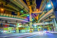 Tokyo, Japan Cityscape and Expressway Junction. Royalty Free Stock Photography