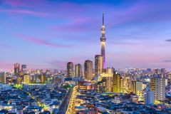 Tokyo, Japan Cityscape Royalty Free Stock Image