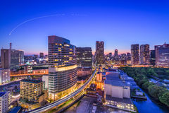 Tokyo, Japan Cityscape. In Shiodome Royalty Free Stock Photography