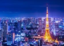 Tokyo, Japan. Cityscape at Tokyo Tower royalty free stock photos