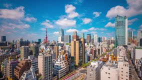 Tokyo, Japan cityscape and tower stock video