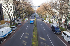 TOKYO,JAPAN DEC 10 2014: Empty street at HARAJUKU In the spring,Japan. Stock Images