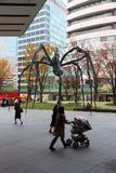 Roppongi, Tokyo. TOKYO, JAPAN - DECEMBER 1, 2016: Roppongi Hills spider monument in Tokyo, Japan. The Spider is a popular meeting place for local people stock photos