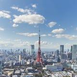TOKYO JAPAN - 19 FEBRUARI 2015 - det Tokyo tornet i Kantoen r Royaltyfri Fotografi