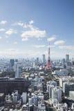 TOKYO JAPAN - 19 FEBRUARI 2015 - staden av Tokyo, Tokyo torn Royaltyfri Fotografi