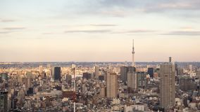 Tokyo JAPAN - Februari 13, 2017: Tokyo stadssikt Royaltyfria Foton