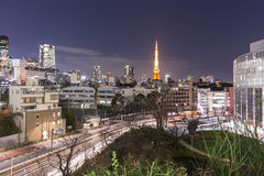 TOKYO, JAPAN - 19 FEBRUARY 2015 - The city of Tokyo, Tokyo tower Stock Photo