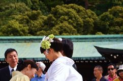 Traditionally ritual occurs in a shrine. royalty free stock photo