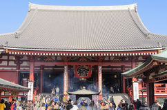 Tokyo, Japan - February 7, 2014:Senso-ji Temple, Asakusa, Tokyo, stock image