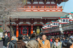 Tokyo, Japan - February 7, 2014:The Senso-ji Temple in Asakusa, Tokyo, Japan.The Senso-ji Temple in Asakusa is the most famous tem Royalty Free Stock Images