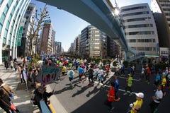 An annual marathon event in Tokyo, Tokyo Marathon stock photography