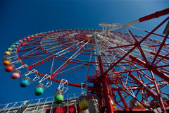 Tokyo, Japan - Ferris Wheel (115 meters). Tokyo Bay is located in Odaiba, Tokyo emerging commercial city, where rapid economic growth of Japan's land to the sea Stock Photos