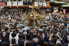 Tokyo, Japan - Festival Kanda Matsuri stockfotos
