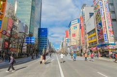 Tokyo, Japan - 24. Januar 2016: Akihabara-Bezirk Stockbild