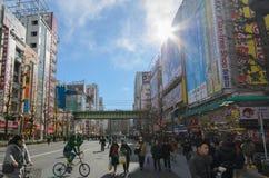 Tokyo, Japan - 24. Januar 2016: Akihabara-Bezirk in Tokyo, Japan Lizenzfreie Stockbilder