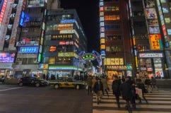 Tokyo, Japan - Januari 25.2016: De poort van de Kabukichoingang in Shinju Stock Foto