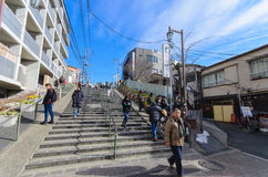 Free Tokyo, Japan - January 27, 2016: Yuyake Dandan.it Is The Stairs On The Slope Road To Yanaka-Ginza Street Stock Photography - 74009682