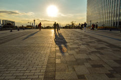 Tokyo, Japan. 13 January 2014. The couples walking in Odaiba. Stock Photography